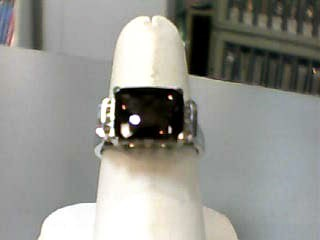 Brown Stone Lady's Stone & Diamond Ring 6 Diamonds .06 Carat T.W.