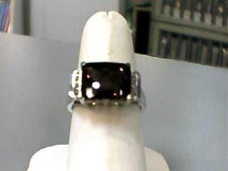 Brown Stone Lady's Stone & Diamond Ring 6 Diamonds .06 Carat T.W.