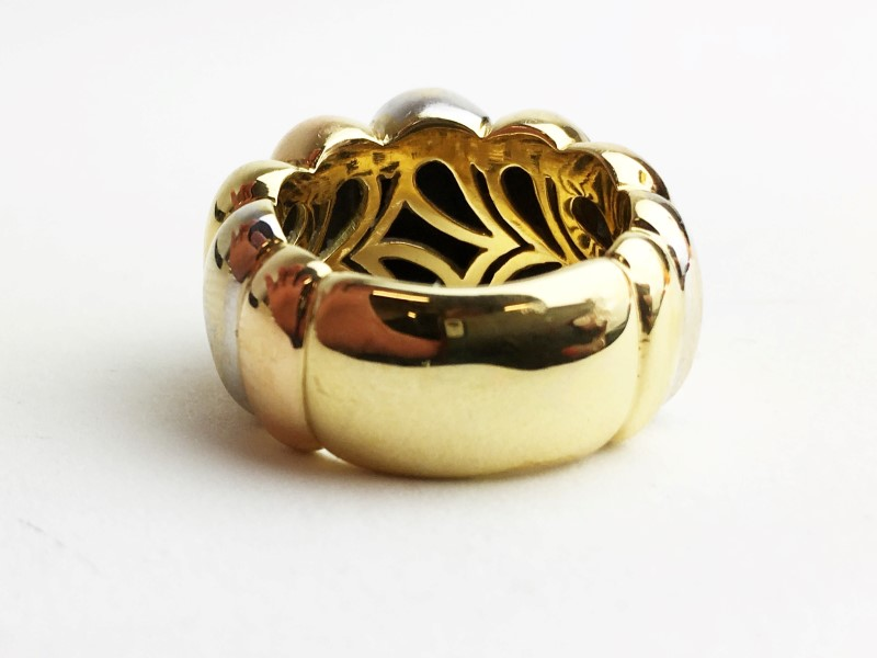 LADY'S TRI-COLOR GOLD 18K 15.8g RING