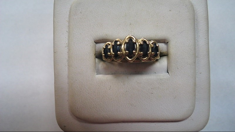 Lady's Stone Ring 10K Yellow Gold Size:7 (Free S/H)