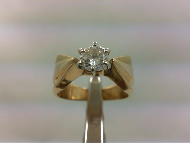 Lady's Diamond Solitaire Ring .50 CT. 14K Yellow Gold 4.88g
