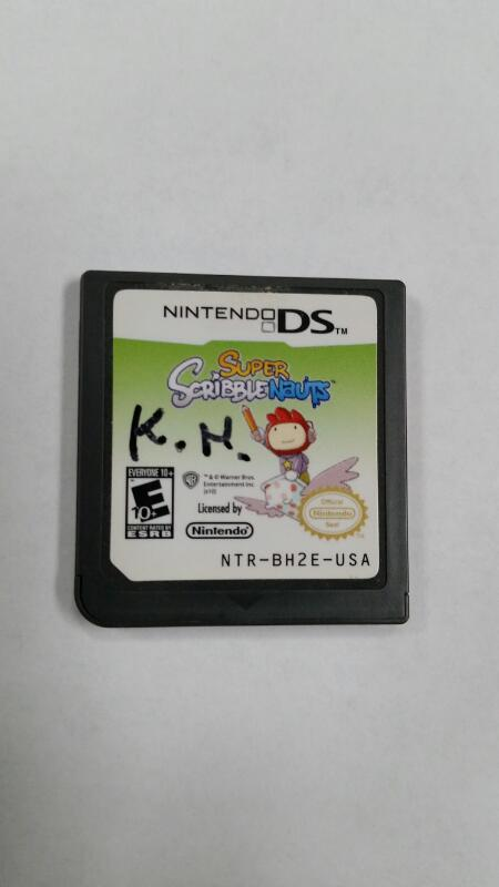 NINTENDO DS GAME SUPER SCRIBBLE NAUTS