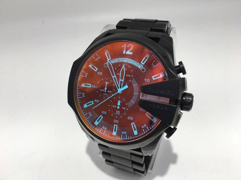 Diesel Mega Chief Black Ion-plated Stainless Mens Watch DZ4318