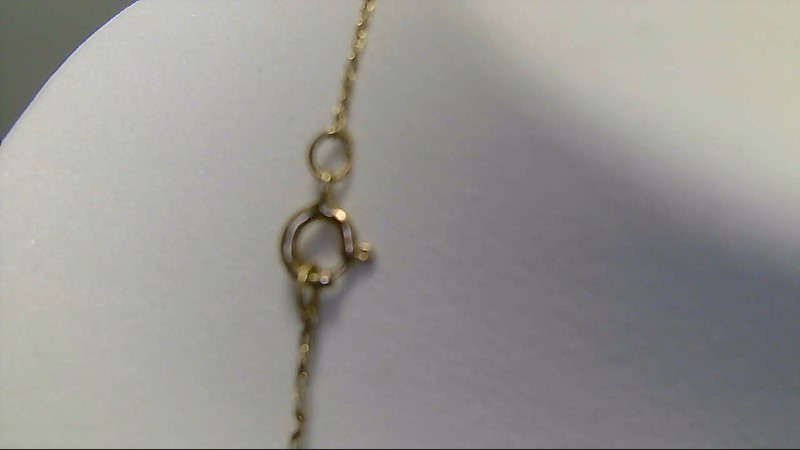 lady's 14k yellow gold 18inch fine chain