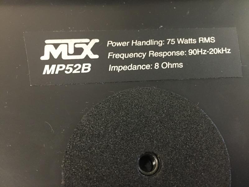 MTX AUDIO Speakers/Subwoofer MP52B