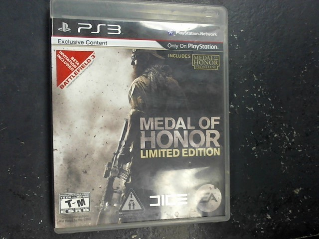 SONY Sony PlayStation 3 Game MEDAL OF HONOR LIMITED EDITION