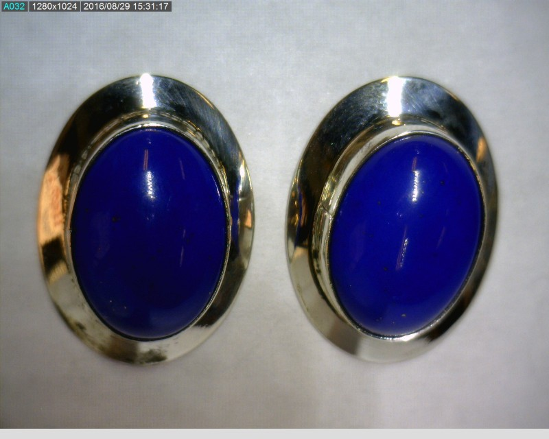 Lapis Silver-Stone Earrings 925 Silver 3dwt