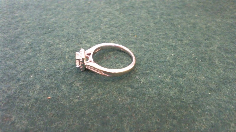 Lady's Diamond Engagement Ring 19 Diamonds .55 Carat T.W. 14K Yellow Gold 3.1g