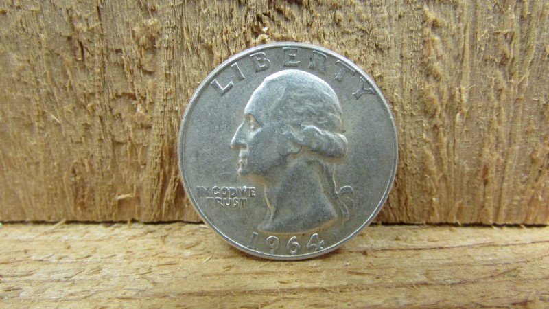 UNITED STATES Silver Coin 1964 WASHINGTON QUARTER