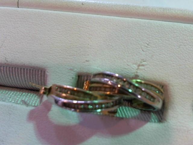 Gold-Diamond Earrings 54 Diamonds .54 Carat T.W. 14K 2 Tone Gold 5.8g