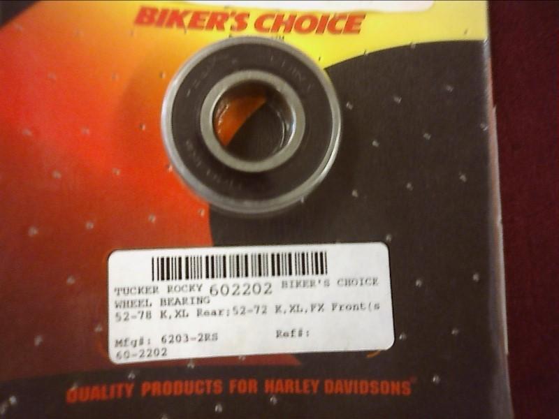 NEW PARTS CYCLE-PARTS CYCLE-PARTS BIKER'S CHOICE 602202, #9009; 602202 WHEEL BEA