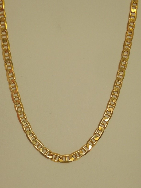 "20"" Gold Anchor Chain 14K Yellow Gold 17.9g"