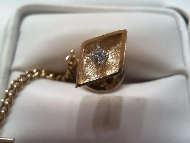 Gold-Diamond Misc. .08 CT. 14K Yellow Gold 0.9g