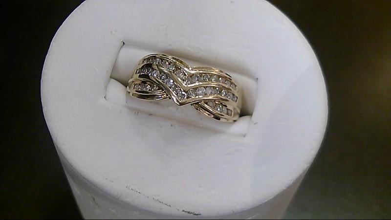 Lady's Diamond Fashion Ring 36 Diamonds .36 Carat T.W. 10K Yellow Gold 3.8g
