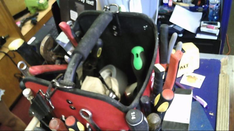 husky tool bag with many pockets