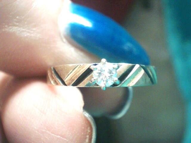 Lady's Diamond Engagement Ring .12 CT. 14K Yellow Gold 1.4dwt
