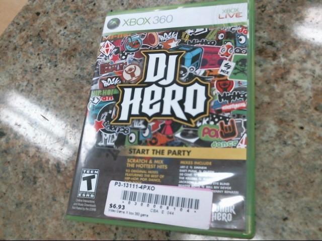 MICROSOFT Microsoft XBOX 360 Game DJ HERO