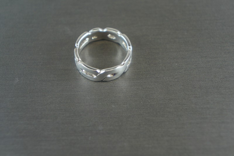 STERLING SILVER FASHION RING 925 3.6g Size:5.5