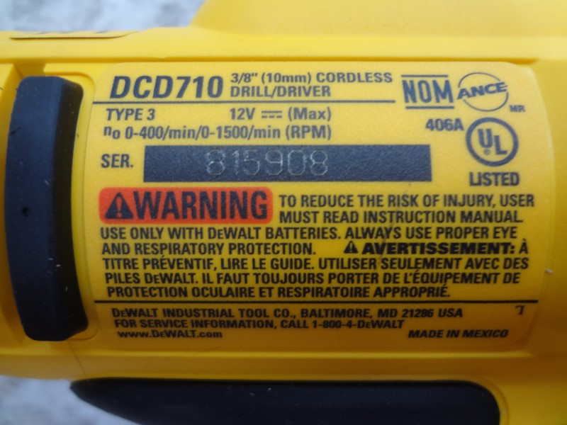 """DEWALT DCD710 12V MAX LITHIUM 3/8"""" DRILL DRIVER **BARE TOOL ONLY**"""