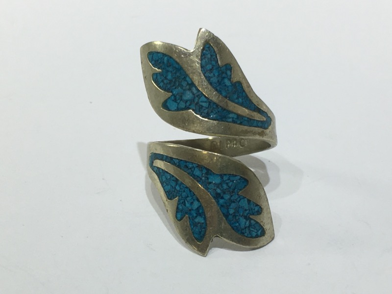 Silver & Turquoise Ring-925 and rich turquoise