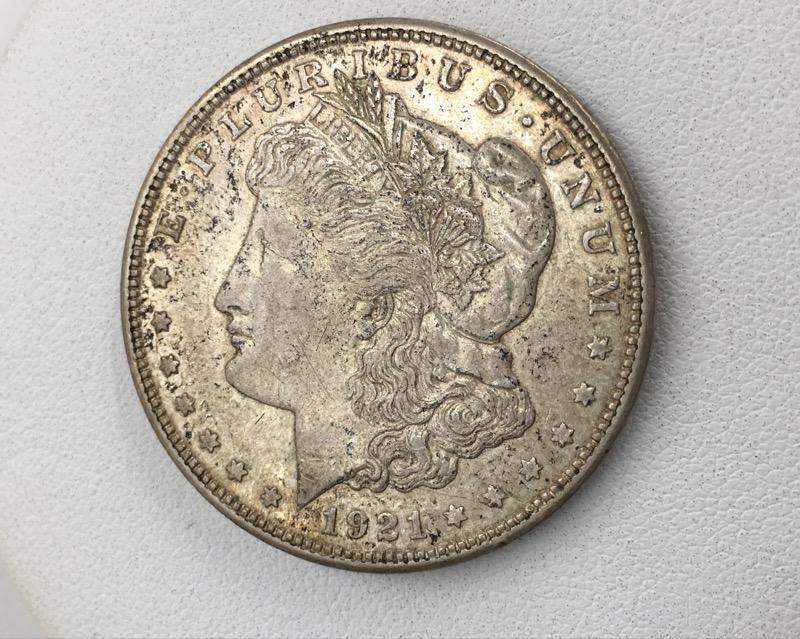 1921 D Morgan Silver Dollar - U.S. 90% Silver $1 Coin