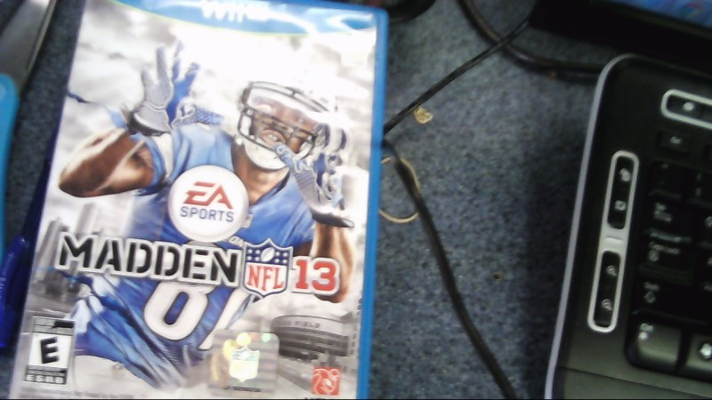 NINTENDO WII U MADDEN 13 NFL VIDEO GAME