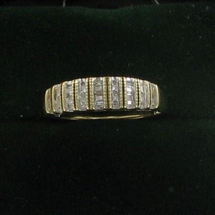 Lady's Diamond Fashion Ring 27 Diamonds .27 Carat T.W. 10K Yellow Gold 1.8dwt