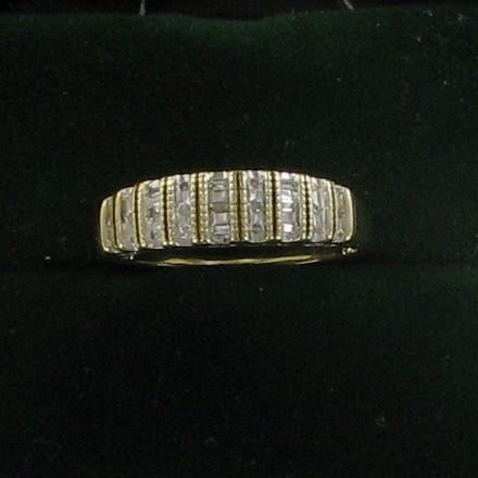 Lady's Diamond Fashion Ring 27 Diamonds .27 Carat T.W. 10K Yellow Gold 1.8dwt