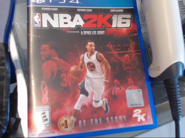 NBA 2K16 PS4 GAME STEPH CURRY COVER