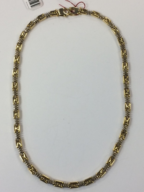 "16"" Gold Fashion Chain 18K 2 Tone Gold 37g"