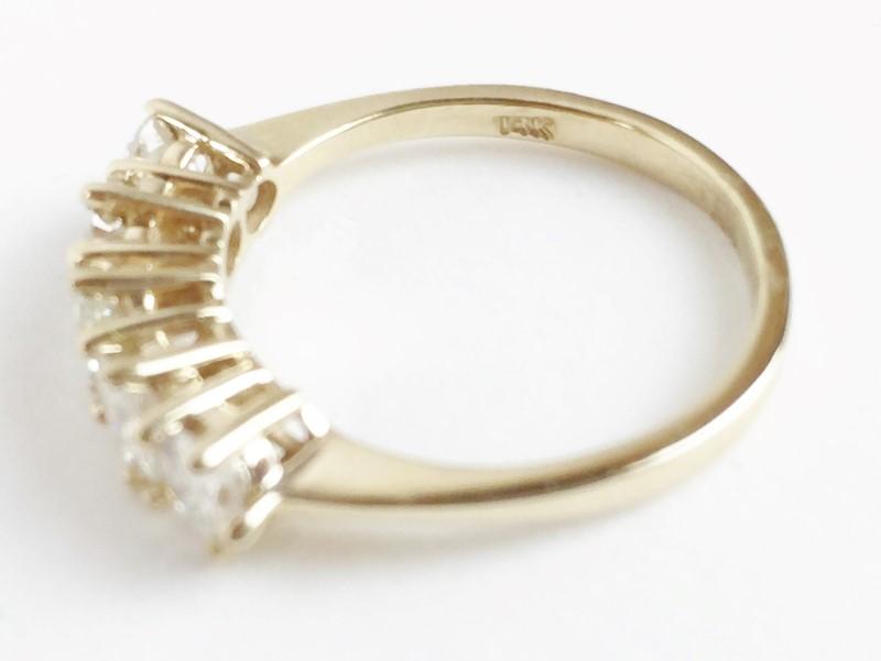 Lady's Diamond Band 1.50 Carat T.W. 14K Yellow Gold 3.01g Size 7.25