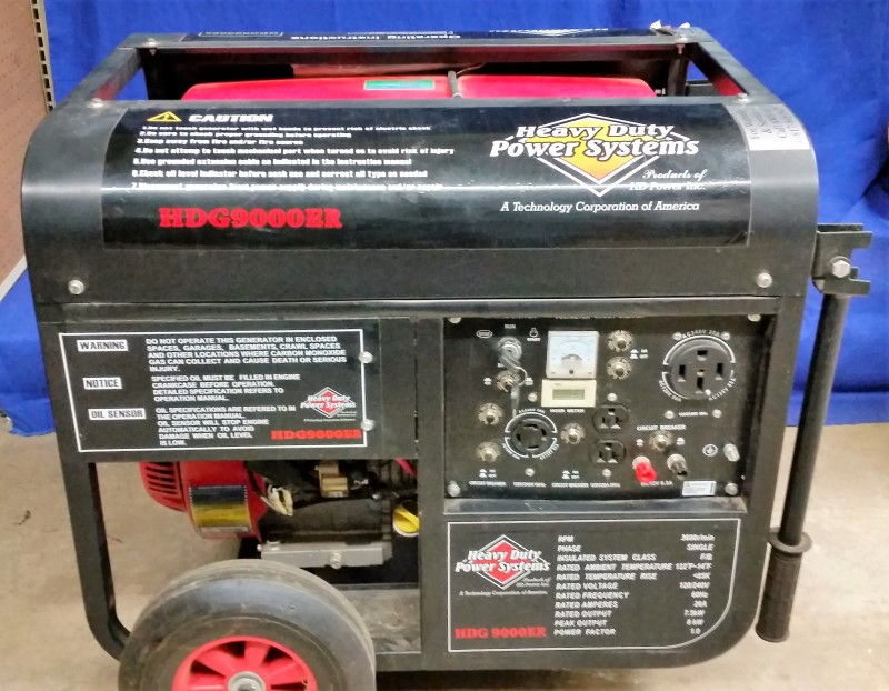 HD POWER INC GENERATORS HDG9000E