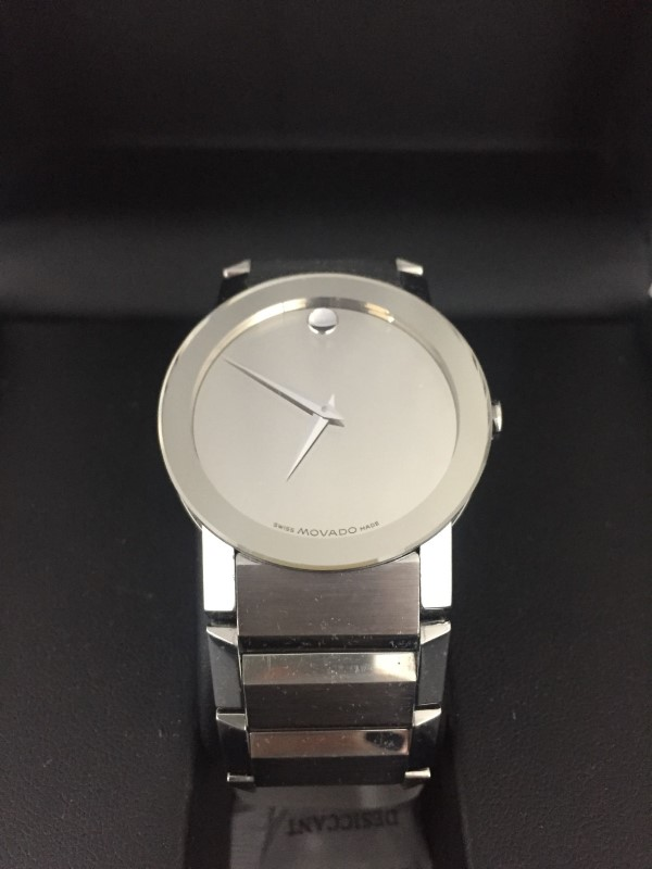 MOVADO 84 G1 2896 SAPPHIRE MIRROR MUSEUM STAINLESS STEEL MEN'S WATCH