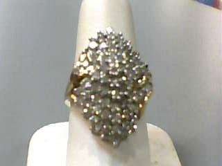 Lady's Diamond Cluster Ring 50 Diamonds 2.00 Carat T.W. 14K Yellow Gold 5.6dwt