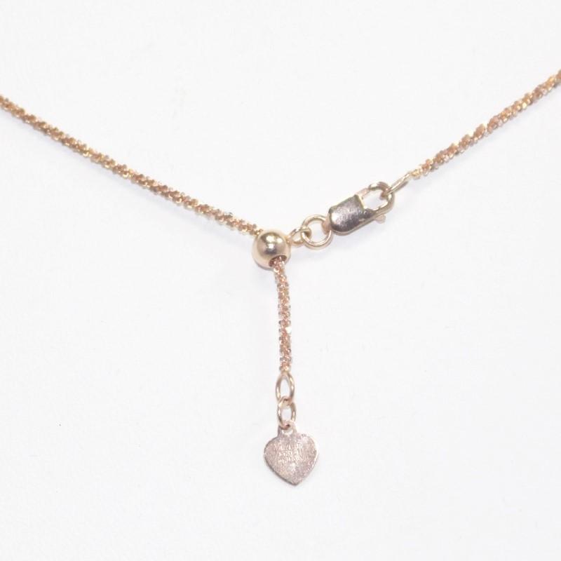 "20"" 14K Rose Gold Fashion Chain 2.88g Fall"
