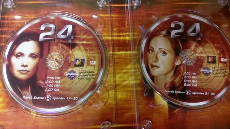 Season Four of the TV show 24 7 Disk DVD set