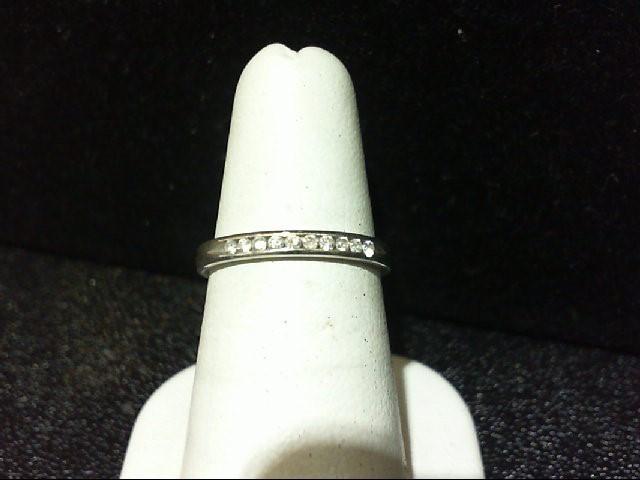 Lady's Diamond Wedding Band 10 Diamonds .20 Carat T.W. 14K White Gold 2g