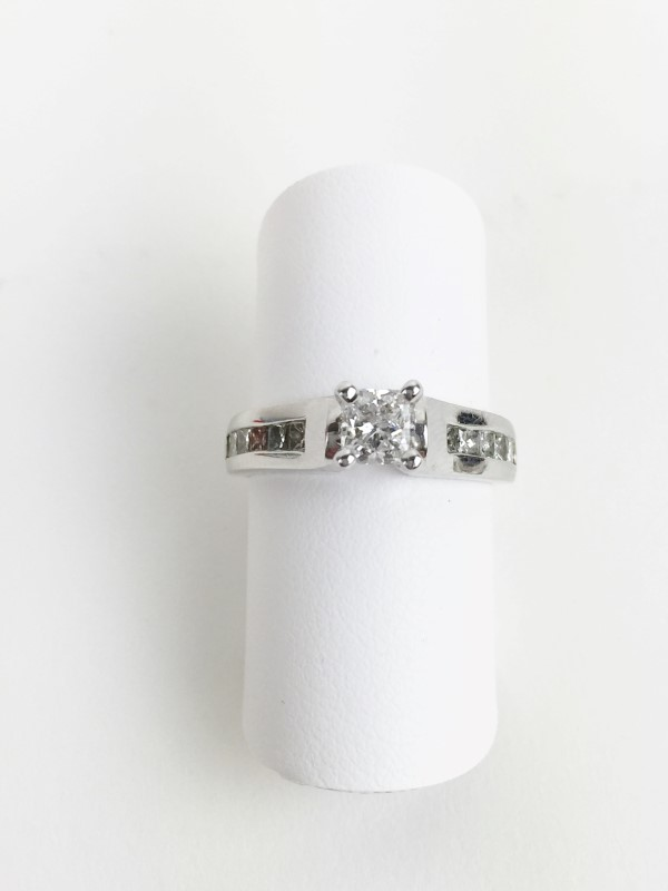 .53cts Prin SI2 FG with 12 Diamonds 1.13 Carat T.W. 14K WG 4.3g w EGL Cert