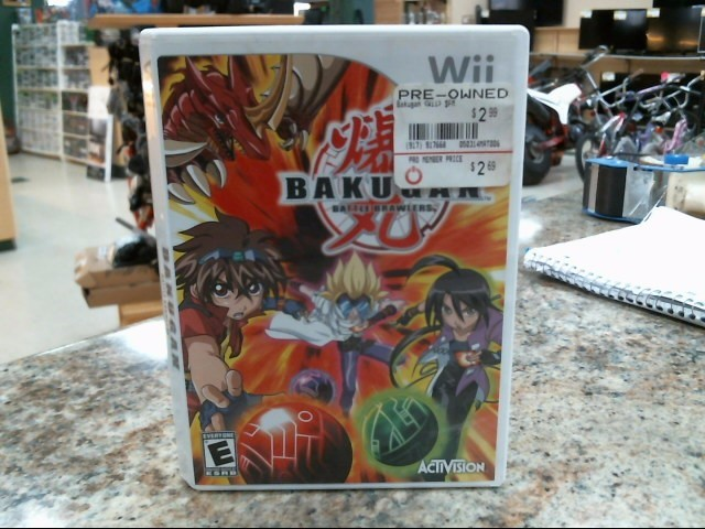 NINTENDO Nintendo Wii Game BAKUGAN BATTLE BRAWLERS WII