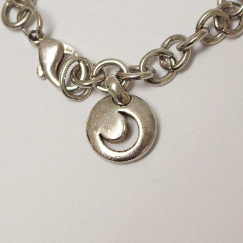 "8"" Sterling Silver Lucky Charm (Star,Moon,HorseShoe,Heart) Bracelet"