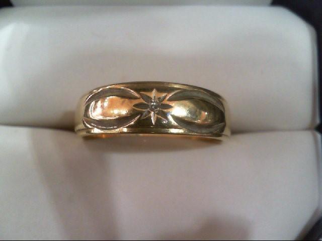 Lady's Diamond Wedding Band .01 CT. 14K Yellow Gold 4.1g