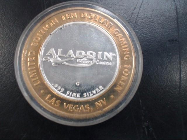 ALADDIN RESORT CASINO Silver Coin GAMING TOKEN