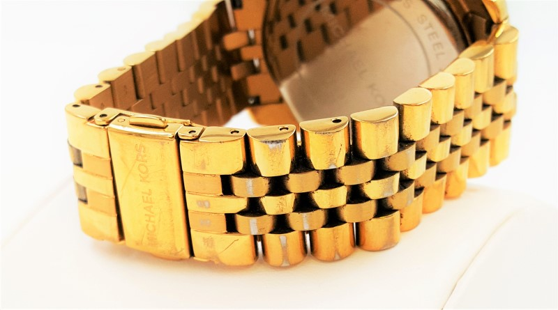 Michael Kors Men's Lexington Gold-Toned Chronograph Watch MK-8281