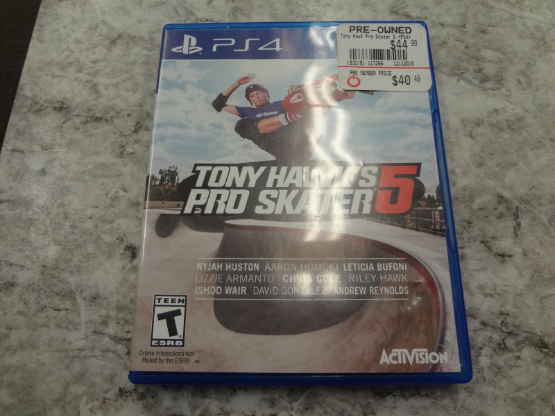 TONY HAWK'S PRO SKATER 5 FOR PS4