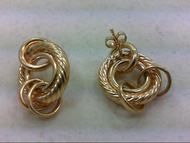 Gold Earrings 14K Yellow Gold 4.8g