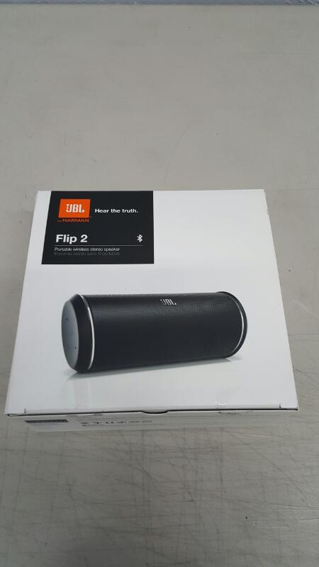 JBL Flip 2 Portable Bluetooth Wireless Stereo Speaker w/Built-in Mic (Black)