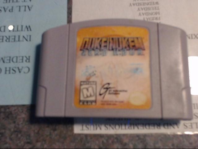 NINTENDO Nintendo 64 Game DUKE NUKEM ZERO HOUR