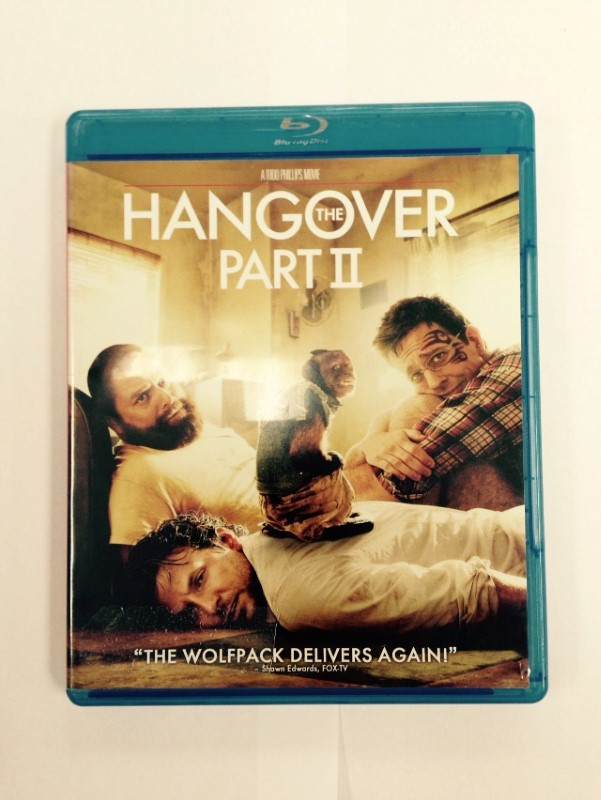 THE HANGOVER: PART II BLU-RAY DVD MOVIE