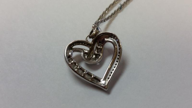 "21"" Diamond Necklace 43 Diamonds .86 Carat T.W. 14K White Gold 5.4g"
