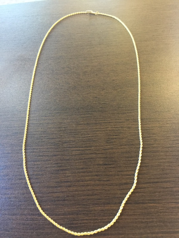 "24"" Gold Rope Chain 18K Yellow Gold 6.6g"